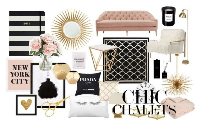 chic by szantinajanik on Polyvore featuring interior, interiors, interior design, home, home decor, interior decorating, Dana Gibson, Axel, Nuevo and Arteriors