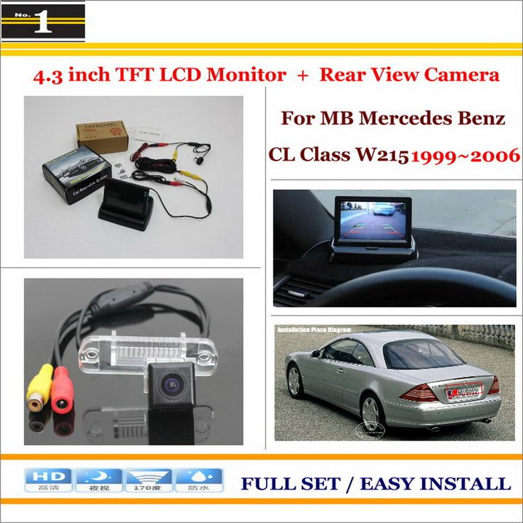 """Car Rearview Camera + 4.3"""" LCD Screen Monitor = 2 in 1 Parking Assistance System - For Mercedes Benz CL Class W215 1999~2006"""