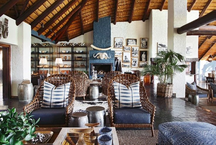 The warm and homely feel of Londolozi's Varty Camp main area