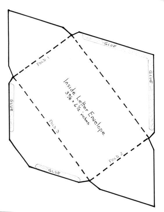 Мухи, шаблон для открытки конверт