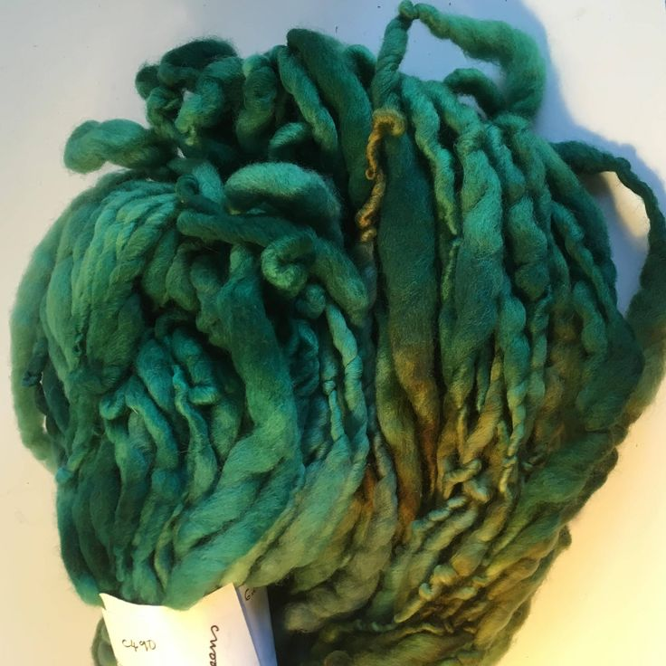 Moss and Grass Green Hand Spun Hand Dyed Merino Chunky by hawthornecottage on Etsy