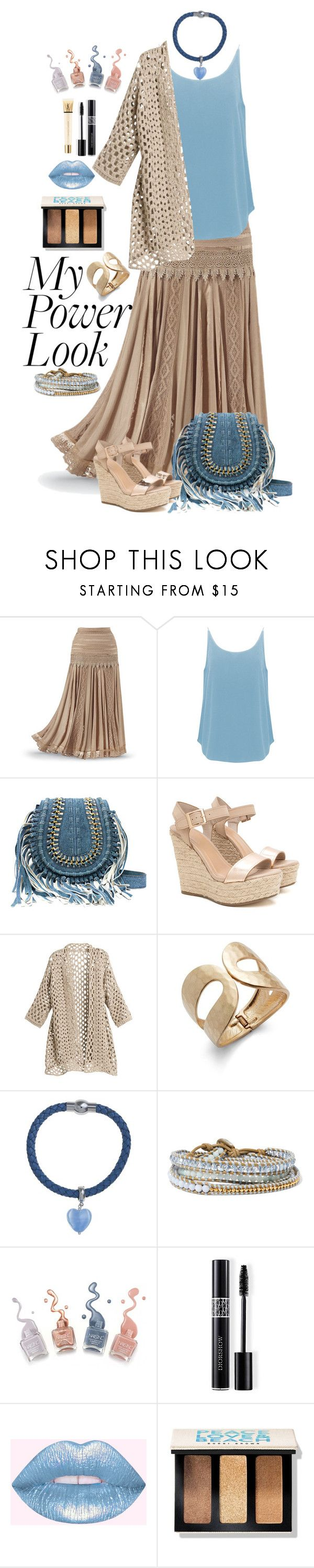 """What's Your Power Look?"" by sabine-713 ❤ liked on Polyvore featuring BA&SH, Catherine Malandrino, Martick, Chan Luu, Christian Dior, Bobbi Brown Cosmetics and Yves Saint Laurent"