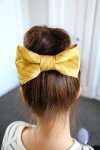 Teased High Bun Hair Bow   Cute Girls Hairstyles