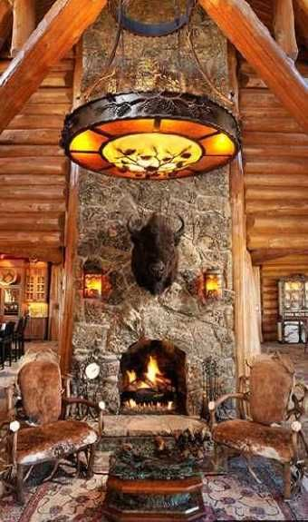 Log Cabin Fireplaces | Standout Log Home Fireplaces...Bold and Breathtaking!