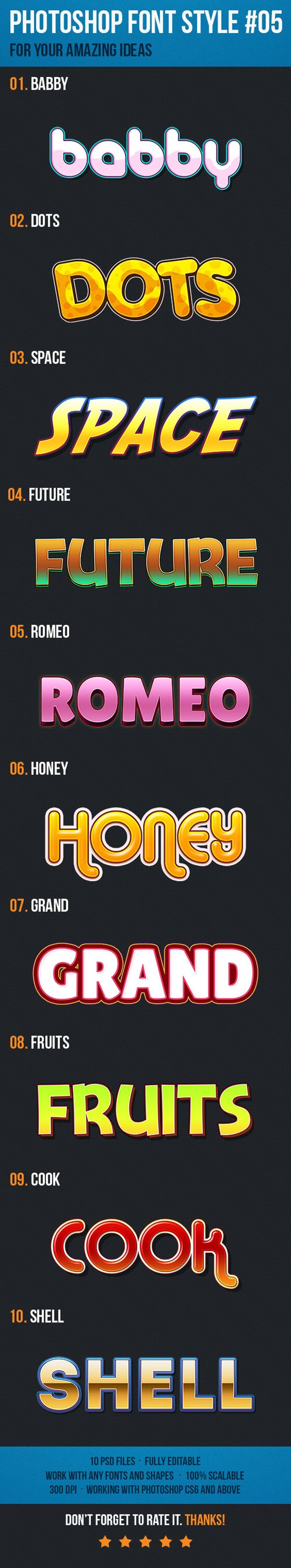 10 Font Style for Game Logo Text Effect. Download here: http://graphicriver.net/item/10-font-style-for-game-logo-05/15304614?ref=ksioks