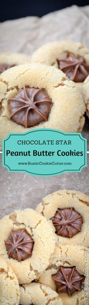 National PB Cookie Day with the BEST PB Cookies - Peanut butter chocolate star cookies disappear quicker than any others!  Besides the chocolate chip cookies, the recipe I can remember always being my fav was the peanut butter blossoms or peanut butter chocolate star cookies…
