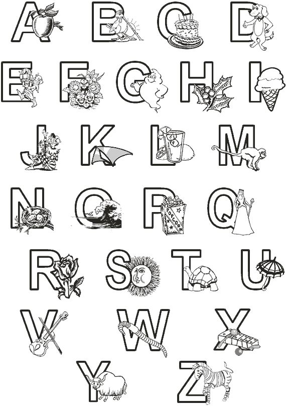 alphabet coloring pages bestofcoloring coloring sheets - Alphabet Coloring Pages