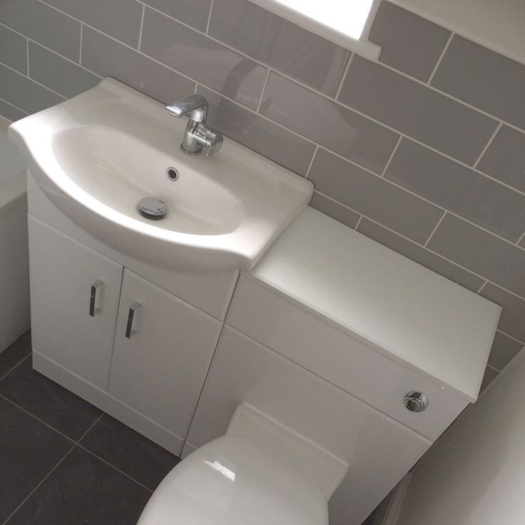 White Gloss Bathroom Sink Unit