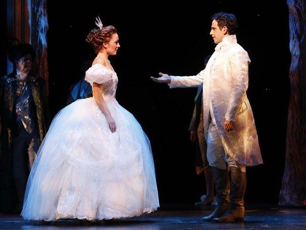 Laura Osnes as Cinderella and Santino Fontana as Prince Topher