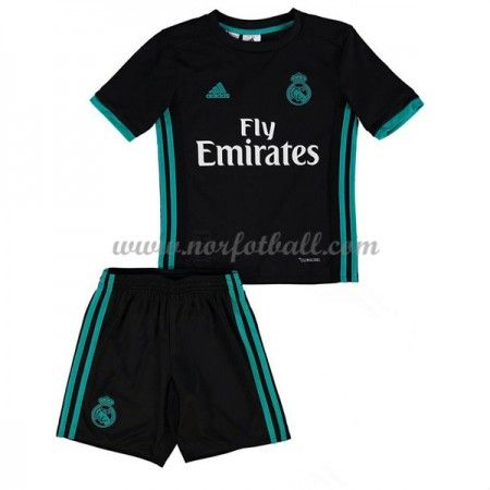 Billige Fotballdrakter Real Madrid Barn 2017-18 Borte Draktsett Fotball Kortermet