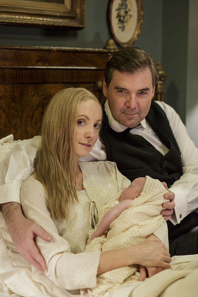 Family of three: Anna and Mr Bates welcomed a baby in the drama-packed final episode of the ITV series