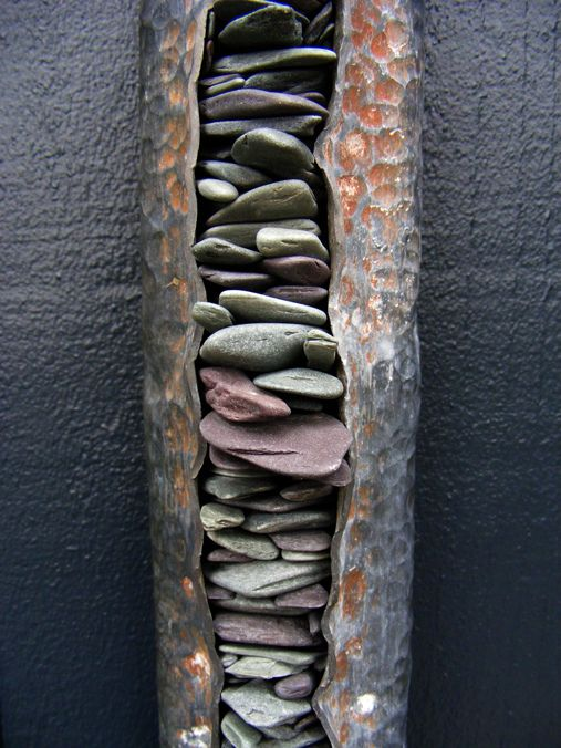 Tom Stogdon, sculpteur  (Thin layered stones)