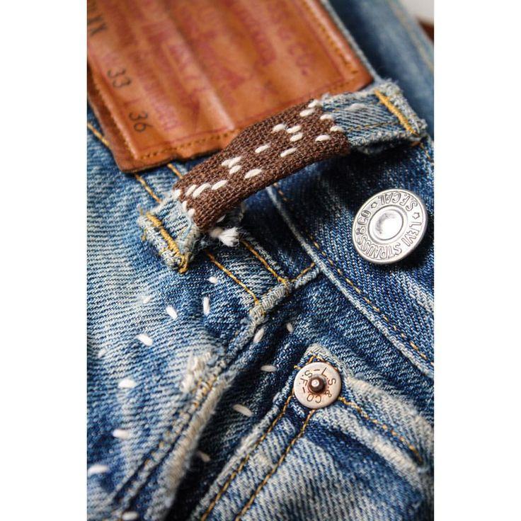 "226 Likes, 6 Comments - @rhomatt on Instagram: ""Sakabukuro beltloop // @levis.vintage.clothing 501s repaired for @denimbitch"""