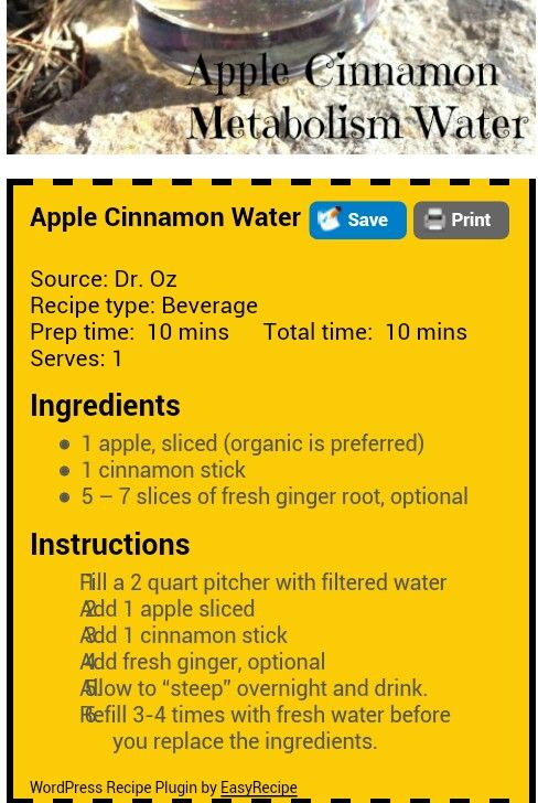 Apple cinnamon water. Detox and lose weight they say. Don't really care so much about that as having something besides plain water. I can't drink diet drinks the artificial sweetener makes me very ill. Have given up soda and try and keep ice tea to a minimum. So let's try this. Hope it's good