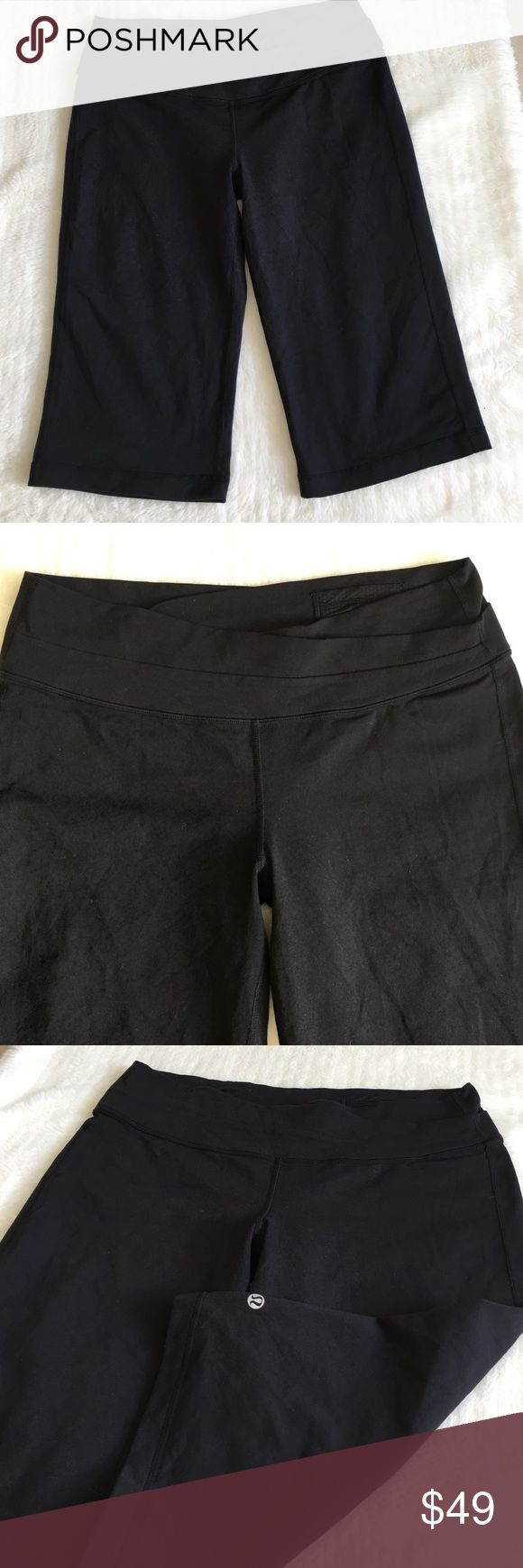 "Lululemon Crop Capri Black Pants Size 12 Preowned barely worn Lululemon Black Capri Crop Leggings size 12. Inseam is 14.5"" inches. Please look at pictures for better reference. Happy shopping!! lululemon athletica Pants"