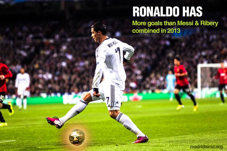 Ronaldo has scored more goals than Messi and Riberi combined. www.madridismo.org