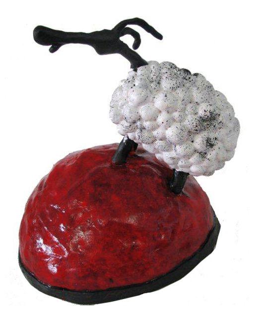 Ewe sculpture by Ann Gadd