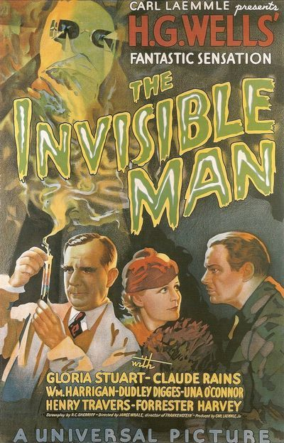The Invisible Man from 1933: Vintage horror movie posters