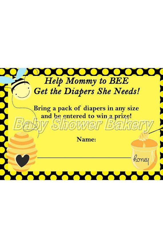 Bumble Bee Diaper Raffle Ticket, Bumble Bee Baby Shower Game, Printable Diaper Raffle, Mommy to Bee Baby Shower, Instant Download on Etsy, $5.50