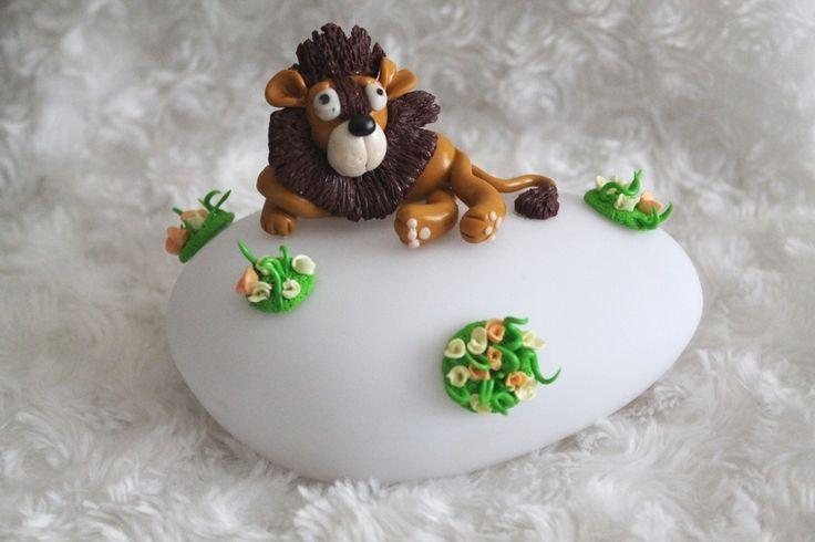 Veilleuse à LED variation de couleur motif Lion : Décoration pour enfants par tom-fimo-creations