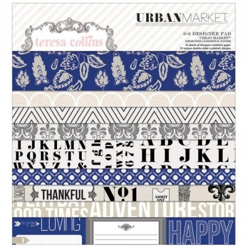 TERESA COLLINS - URBAN MARKET 1010 - PAPER PAD 6X6 12 Double-Sided Designs/2 Each  WE R MEMORY KEEPERS-Teresa Collins URBAN MARKET
