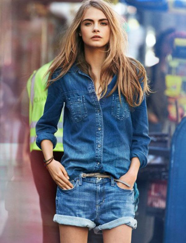 Chambray for Spring!!!  Cara Delevingne for DKNY Spring 2013 Campaign…