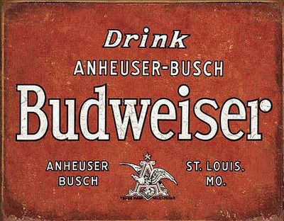 Budweiser - Drink Tin Sign at AllPosters.com