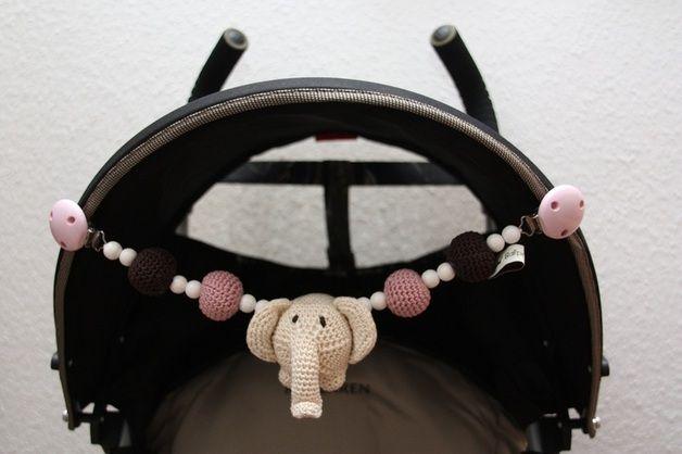 """Kinderwagenketten - Kinderwagenkette Törööö """"rosa"""" - ein Designerstück von fraeulein-fein bei DaWanda"""