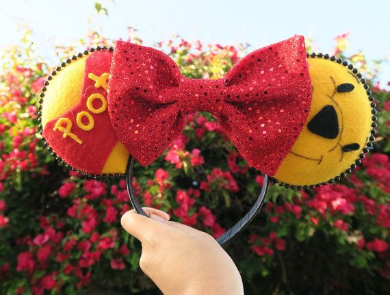 Winnie the Pooh Bear Inspired Ears by LostPrincessDreams on Etsy