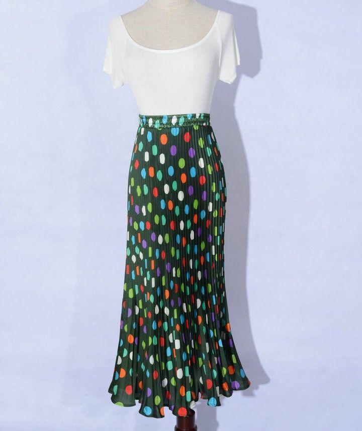7 Цветов Доступны, Vintage женская Высокой Талией Богемия Цветочные Dot Печати Лето Макси Длинный Плиссированные Юбки Новые Наряды купить на AliExpress