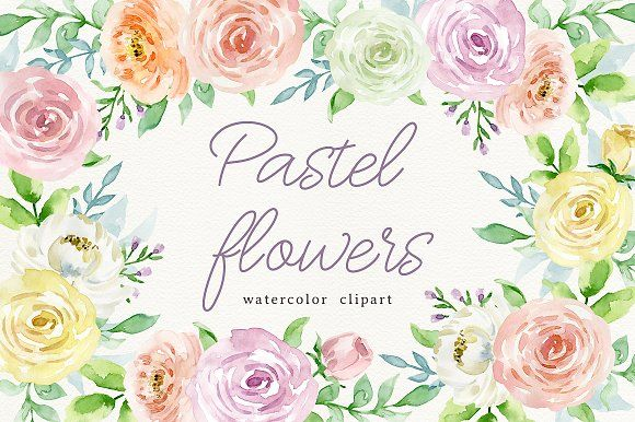 Pastel flowers by long summer on @creativemarket