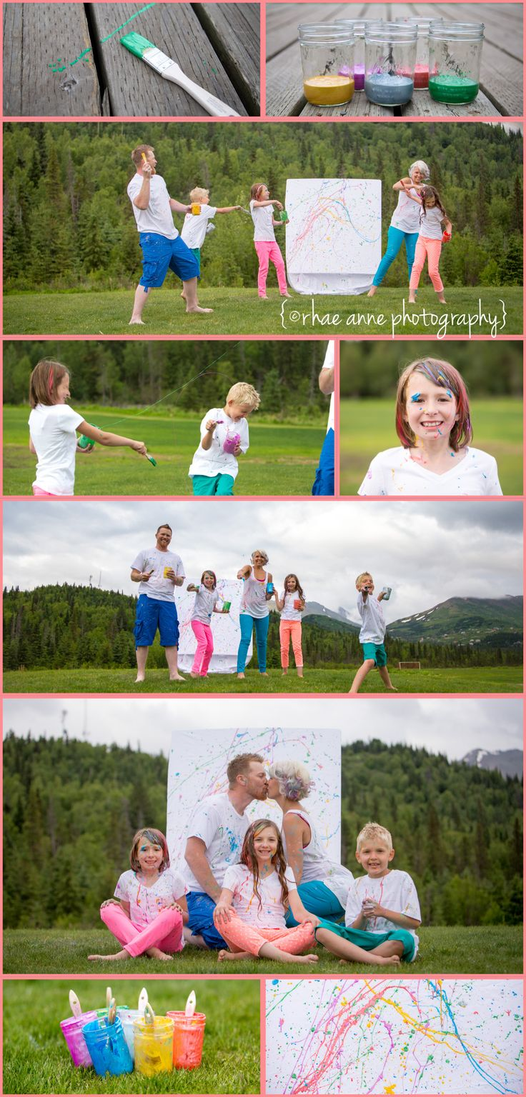 Family Photography - A fun Family Photo Session - You only live once right?! Why not have a fun paint session!