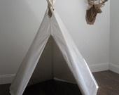 6 ft Fold Away Canvas Teepee. via Etsy.