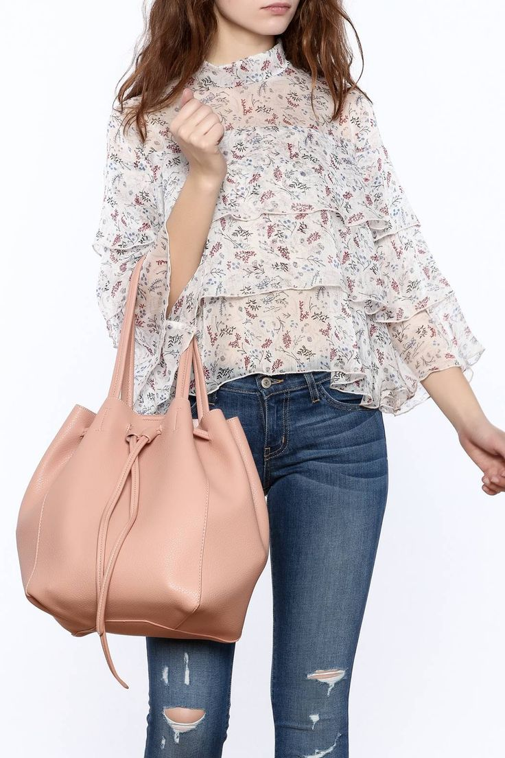 Long sleeve chiffon floral print ruffle top.   Ruffle Floral Top by Hommage. Clothing - Tops - Blouses & Shirts New York City Manhattan, New York City