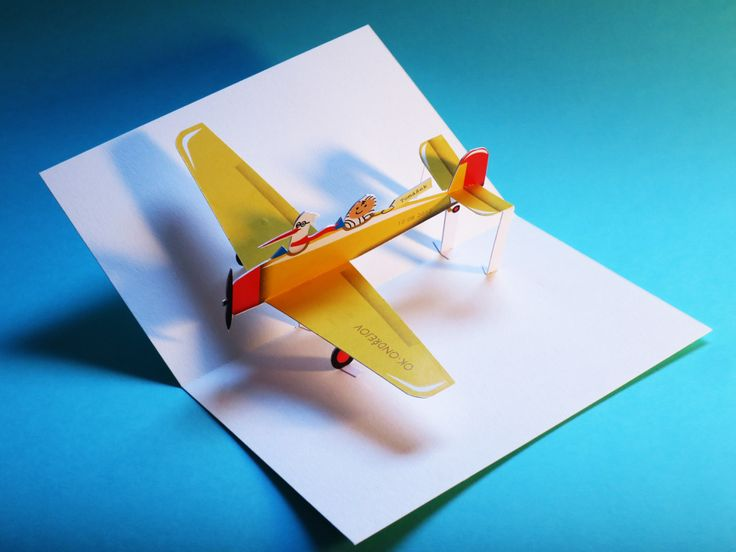 how to make a pop up airplane card