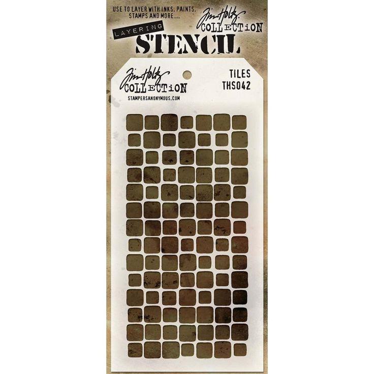 Tim Holtz Layered Stencil Tiles 4.125x8.5inch