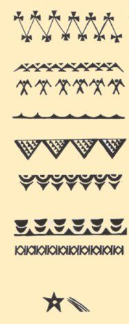 tahitian symbol strength | Maritime symbols representing the seabirds (above) and frigate bird ...