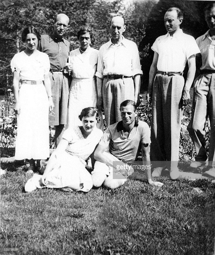 Left to right :, Countess Toerring, Prince Christopher of Greece, Princess Nicholas, Prince Nicholas, Prince Paul of Yugoslavia, Count Toerring, Seated :, Princess Marina and the Duke of Kent. (Photo by: Photo12/UIG via Getty Images)