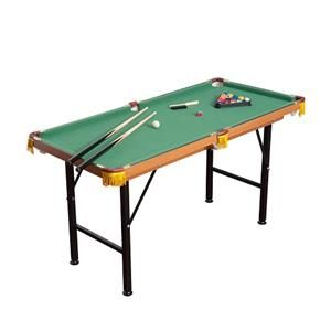 [GBP £74.99]Homcom 4FT 6IN Green Billiards Pool Table With Balls and Accessories
