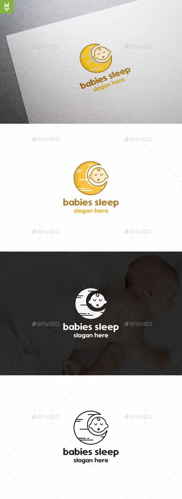 Babies Sleep - Abstract Logo Templates