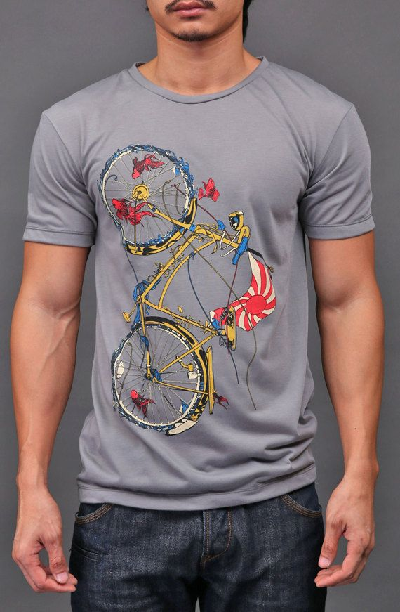 Hey, I found this really awesome Etsy listing at http://www.etsy.com/listing/71661696/bicycle-tshirt-cycling-fish-bike-shirt
