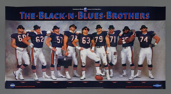 1985 Chicago Bears Black n Blues Brothers by VintageInquisitor