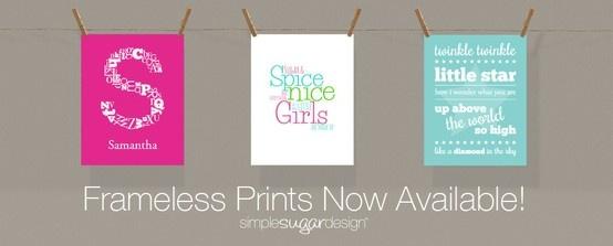 Personalized nursery and child's bedroom prints | #wallart #nursery #customizedprints #nurseryideas #babynursery | www.simplesugardesign.com