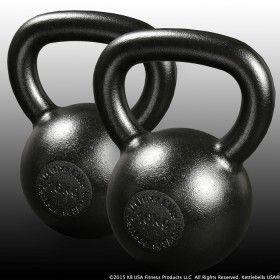 Pair of 16 kg - 35 lb Metrixx® Elite Precision E-Coat Kettlebells