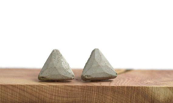 Geometric concrete earrings