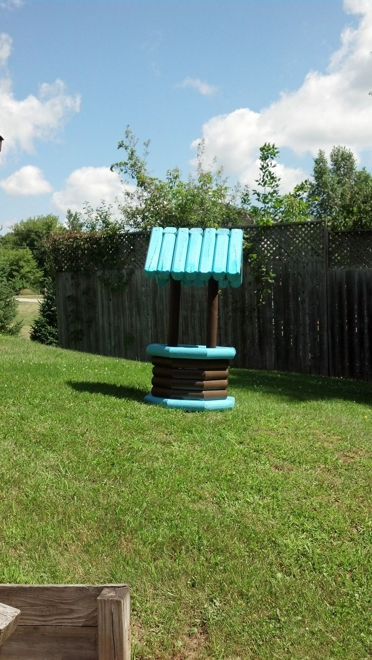 How To Build A Wishing Well Out Of Landscape Timbers