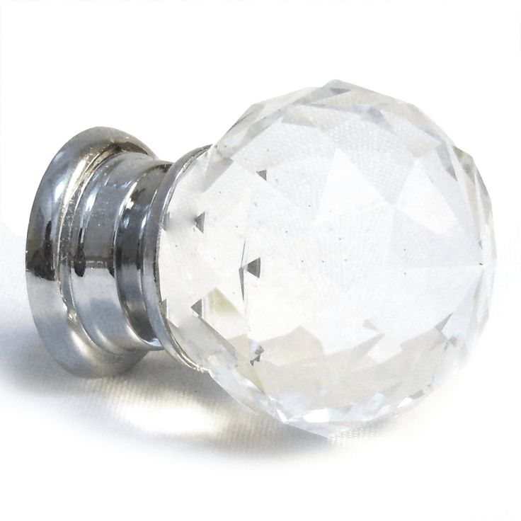 Revive Your Old Furniture With These Stunning Rounded Faceted Clear Crystal  Door Knobs. These Wonderfully