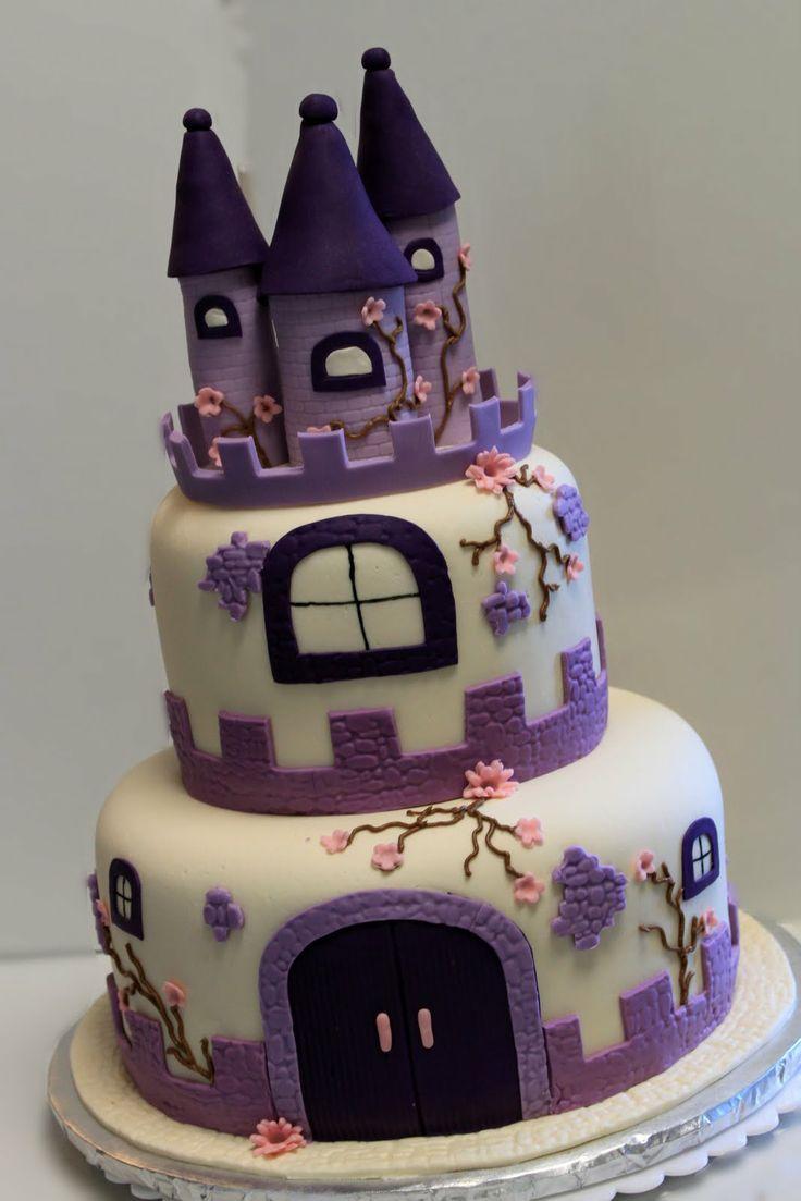 girl castle cake