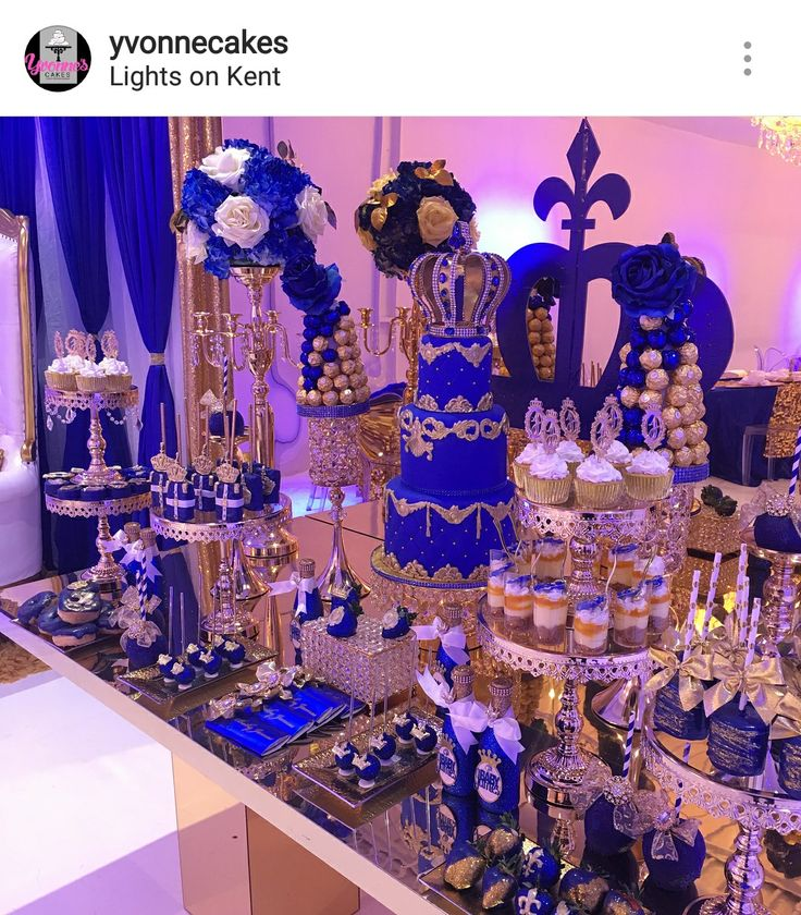 Royal Prince Theme Baby Shower Dessert Table and Decor