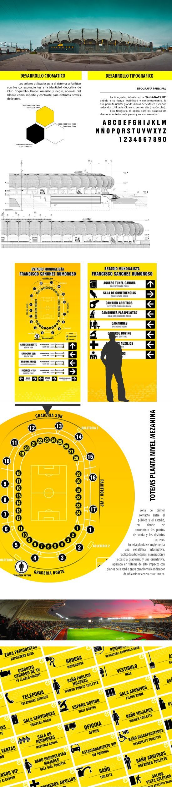 2009 / Signage Stadium Francisco Sanchez Rumoroso on Behance #graphic #design